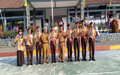 8 Putra Putri SMA Negeri 1 Sukaresmi Resmi menjadi Pramuka Garuda
